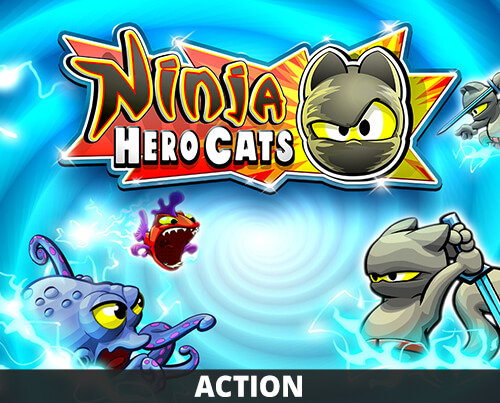 Ninja Hero Cats | Action based Hack & Slash game | HandyGames™