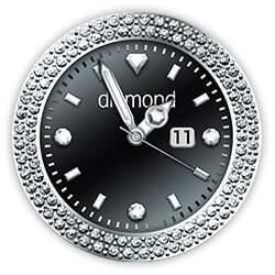Diamond Collection - Watch Face Black