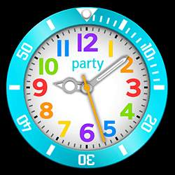 party Collection – Watch Face Light Blue