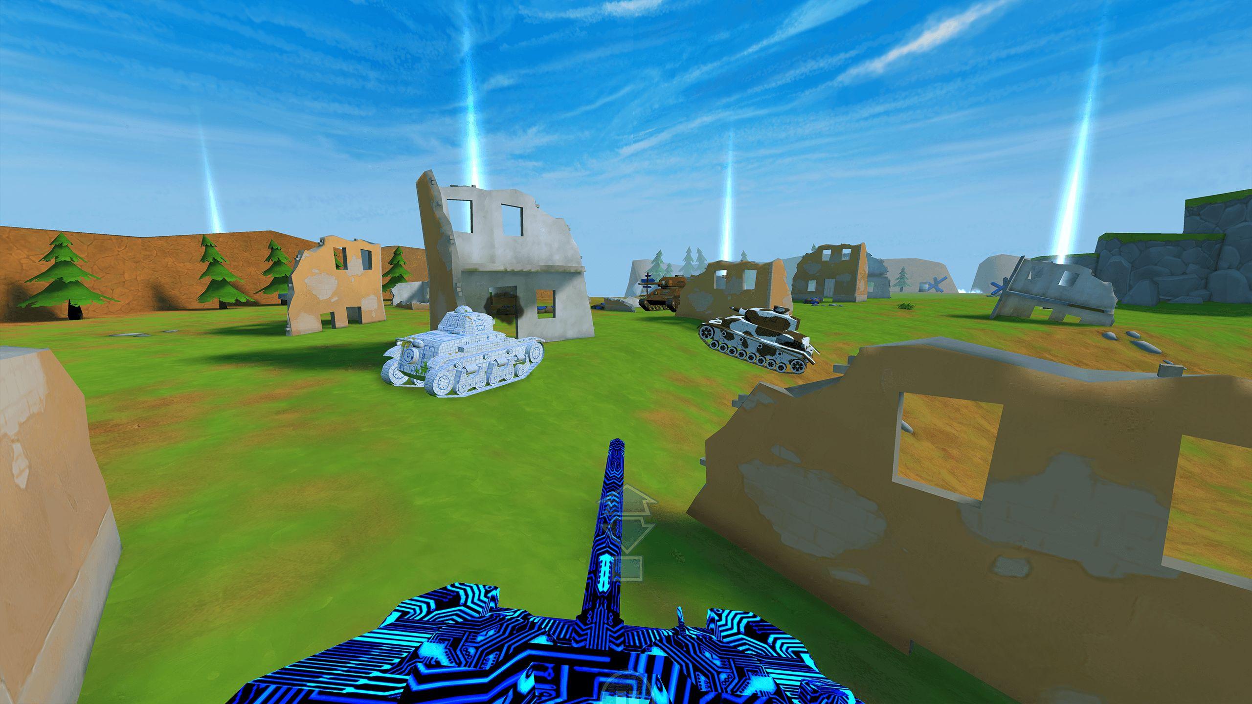 §D VR Panzer Tank blue war