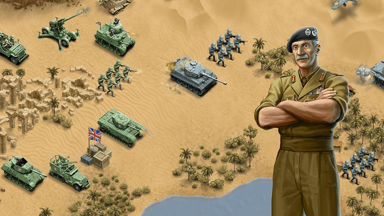 general screenshot panzer tanks soldier general desert strategy