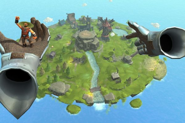Build a medieval village within a completely interactively simulated world!