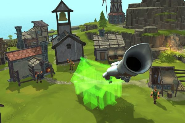 Unlock new buildings and place them freely within your village to optimize transport routes.