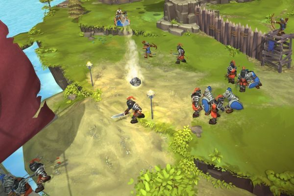 Recruit brave soldiers, build catapults and protect your island from the Black Knights raiding henchmen.