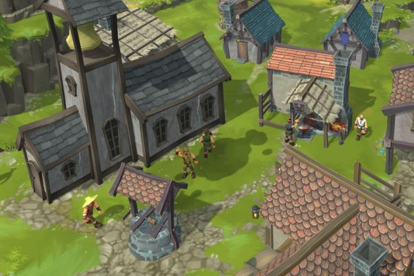Assign jobs and tasks to your villagers to build your supply chains and economy.