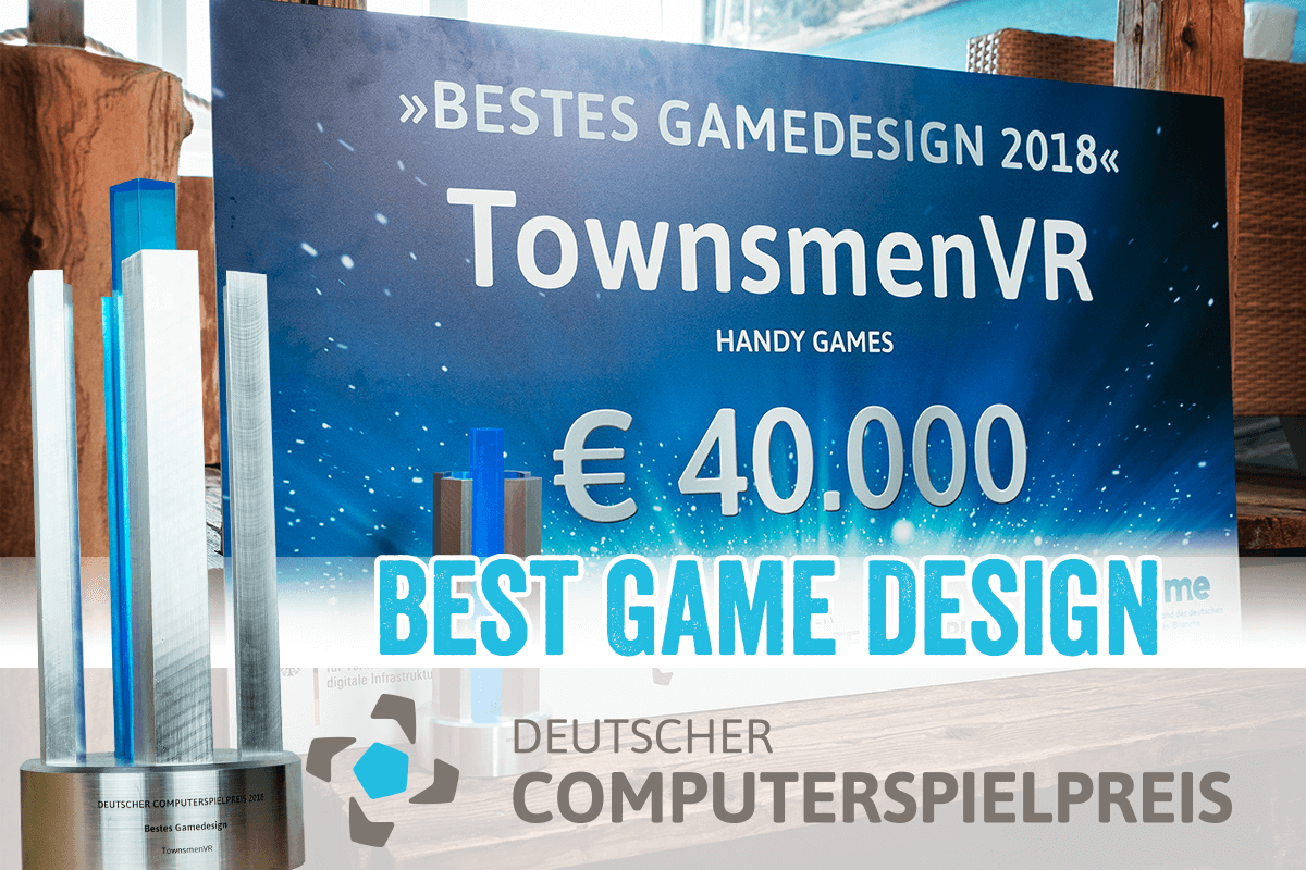 Townsmen VR wins BEST GAME DESIGN at DCP